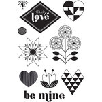 Hero Arts - BasicGrey - J?Adore Collection - Clear Acrylic Stamps - Hello Love