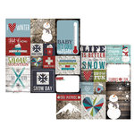 Simple Stories - Snow Patrol Collection - Simple Sets - 12 x 12 Double Sided Paper - Elements 2