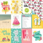 Photo Play Paper - Summer Daydreams Collection - 12 x 12 Double Sided Paper - Unplug 3 x 4 Cards