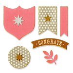 Sizzix - Favorite Things Collection - Framelits Die with Clear Acrylic Stamp Set - Awards