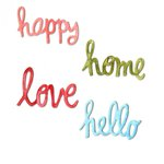 Sizzix - Homegrown and Handmade Collection - Thinlits Die - Circle Words - Love, Hello, Happy and Home