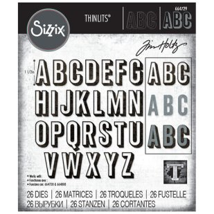 Sizzix Tim Holtz Alphanumeric Shadow Upper Thinlits Die