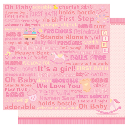 Best Creation Inc Sweet Baby Collection 12 X 12 Double