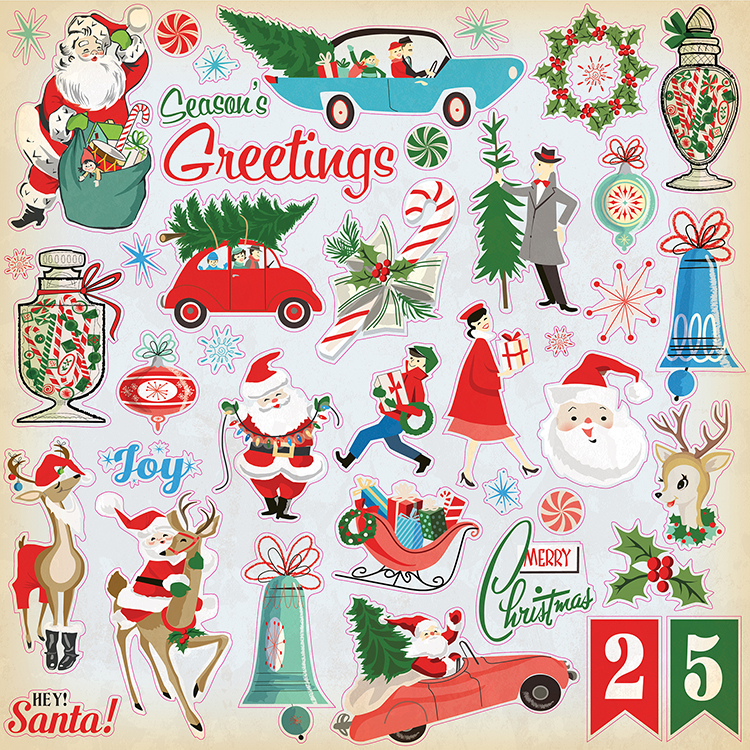 Carta Bella Paper A Very Merry Christmas Stickers