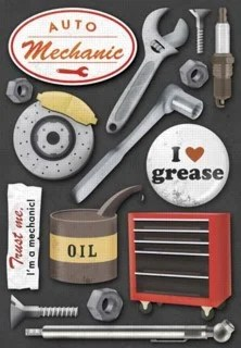 Karen Foster Design Auto Mechanic Collection Stickers