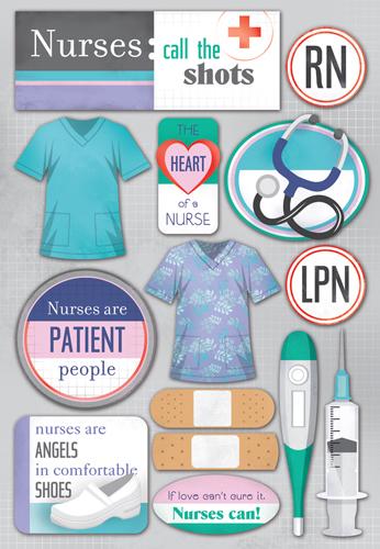 Karen Foster Design Nurse Collection Cardstock