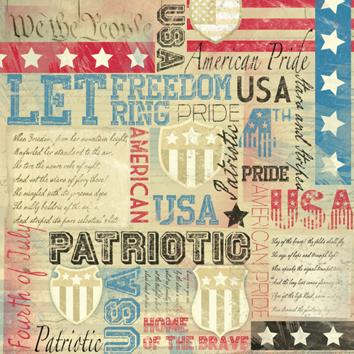 Karen Foster Design Patriotic Collection 12 X 12 Paper