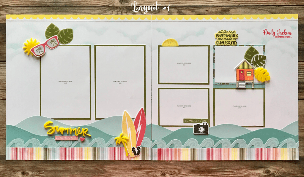 Summer Vibes Scrapbook Layout