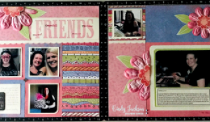 Throwback Thursday Scrapbook Layout