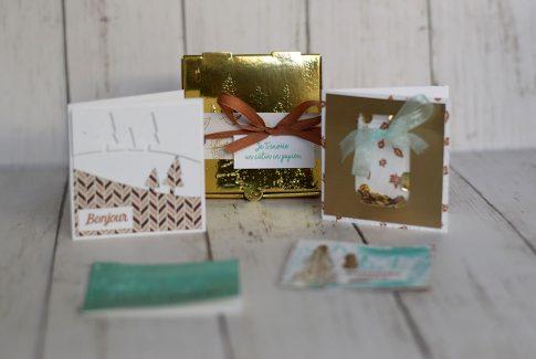 4 minis cartes dans une boîte
