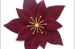 Velvet Poinsettia laser cuts