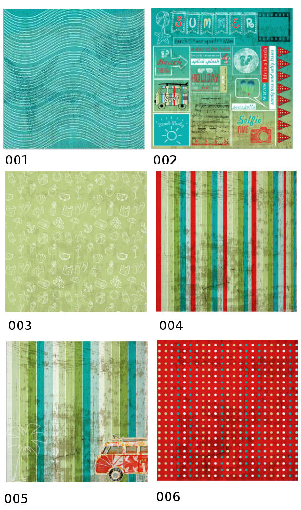 Beachcomber Scrapbooking Paper Collection