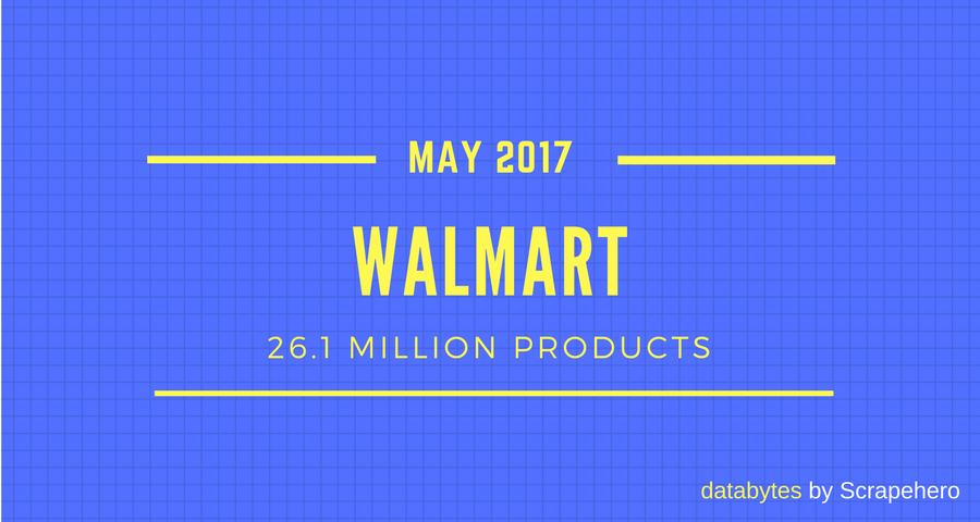 Amazon vs Walmart- Products Sold in May 2017