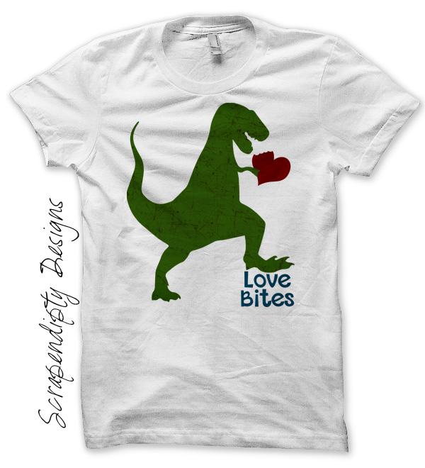 Download Love Bites Dinosaur Valentine Shirt