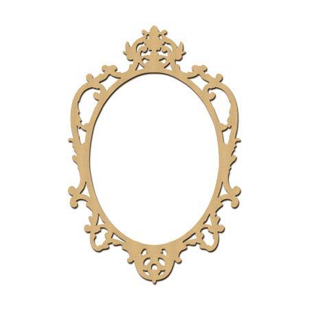 sujet en bois medium photobooth cadre baroque ovale 60 x 40 cm