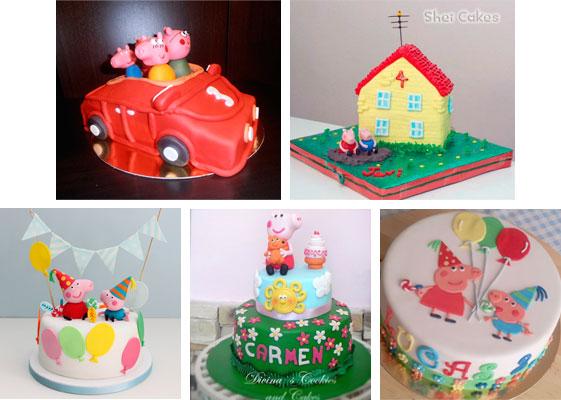 tartas para cumpleaños de peppa pig