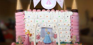 Tarta de chuches castillo de princesas