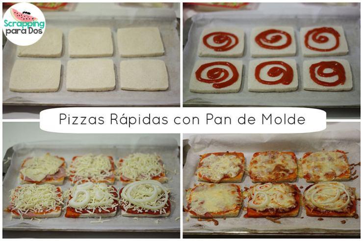 pizza rápida con pan del molde