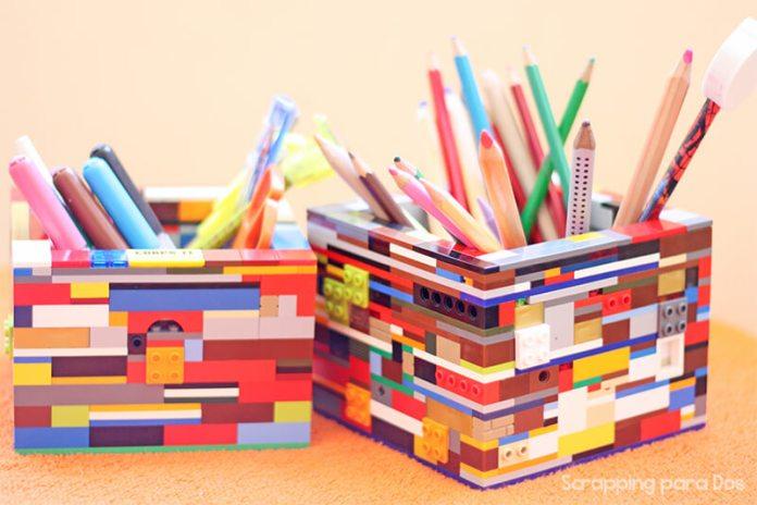 Portalápices con piezas LEGO