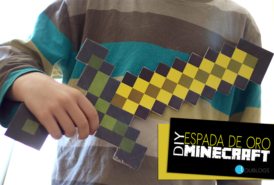 Espada Minecraft Imprimible para Jugar