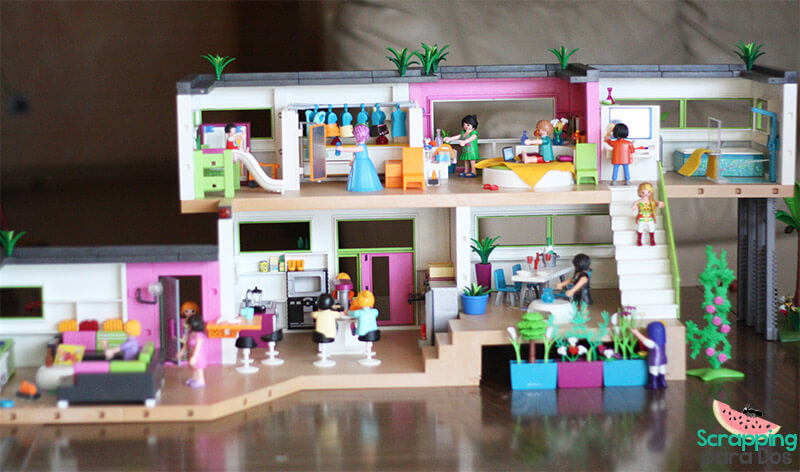 Mansi n moderna de lujo playmobil for La casa moderna