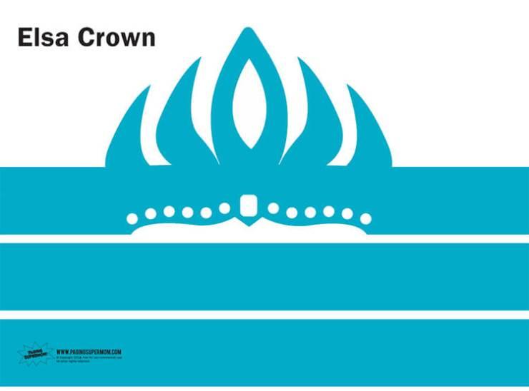 corona de elsa para imprimir