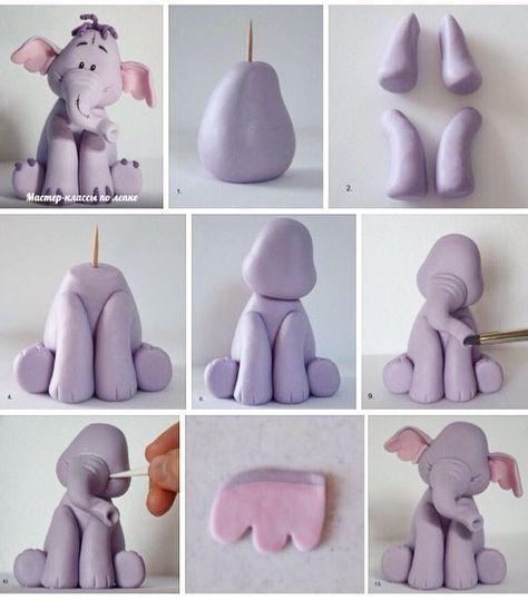 elefante de plastilina paso a paso