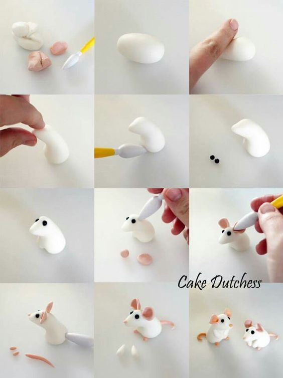 ratones de plastilina