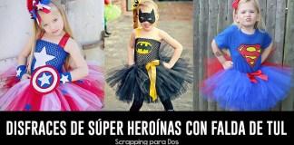 disfraces de súper heroínas con falda de tul
