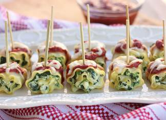 mini lasañas de espinacas con queso