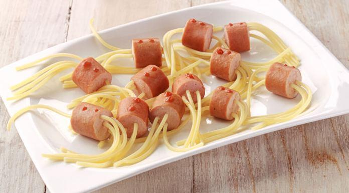 espagueti con salchichas