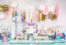 fiesta de cumpleaños de unicornios