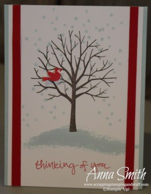 Simple card made with the Sheltering Tree stamp set.