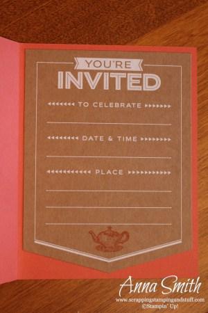 Tea Pot Shower Invitation