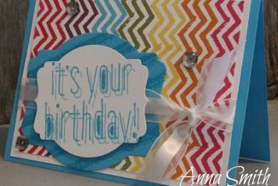 Stampin' Up Big News Birthday Card