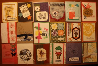 Stampin' Up! Convention Card Swaps
