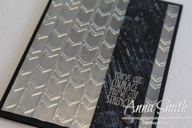 Diamond Plate card using Arrows embossing folder, Gorgeous Grunge and Something to Say stamp sets