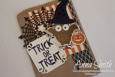 Halloween Treat Bag featuring Howl-O-Ween Treat stamp set and Boo to You Framelits
