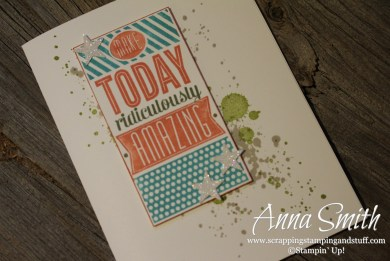 Ridiculously Amazing Birthday Card Stampin' Up! Amazing Birthday and Gorgeous Grunge stamp sets