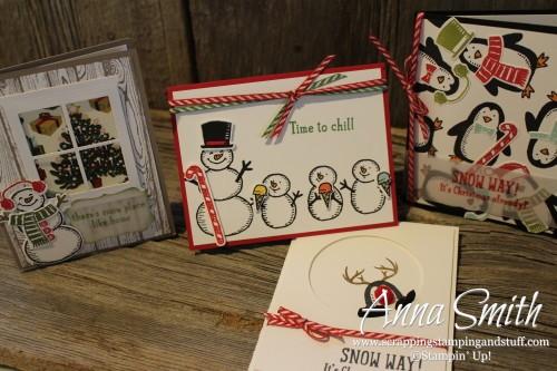 Snow Place bundle penguin and snowmen Christmas cards