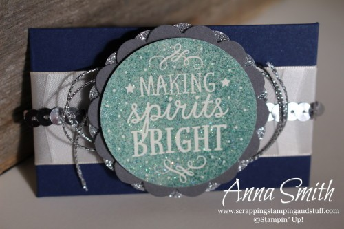 Making Spirits Bright Gift Card Holder using the Envelope Punch Board, Among the Branches and Lots of Joy stamp sets