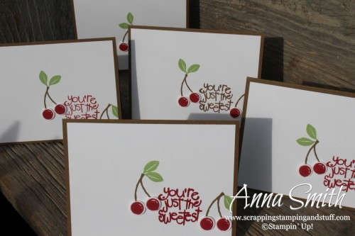 The Sweetest Cherry Card made with Stampin' Up! Apple of My Eye stamp set