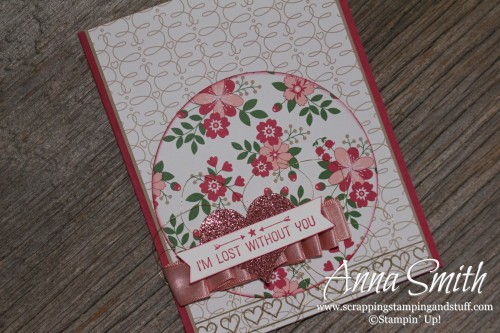 Valentine's Day Card and Treat Box made with Stampin' Up! Playful Pals framelits, Love Blossoms designer paper and Going Global stamp set