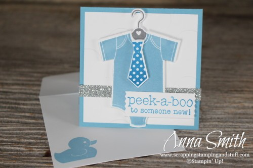 Something for Baby Shower Card for a boy Stampin' Up!