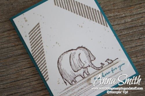 Thinking of you elephant and mouse card made with the adorable Stampin' Up! Love You Lots Hostess stamp set and Gorgeous Grunge