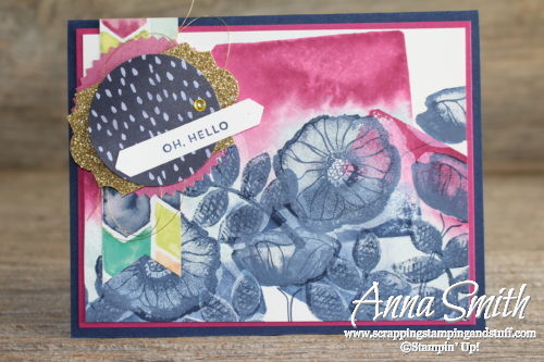 Online Stamp Club free project kit made with the Stampin' Up! Oh So Eclectic stamp set and block stamping technique