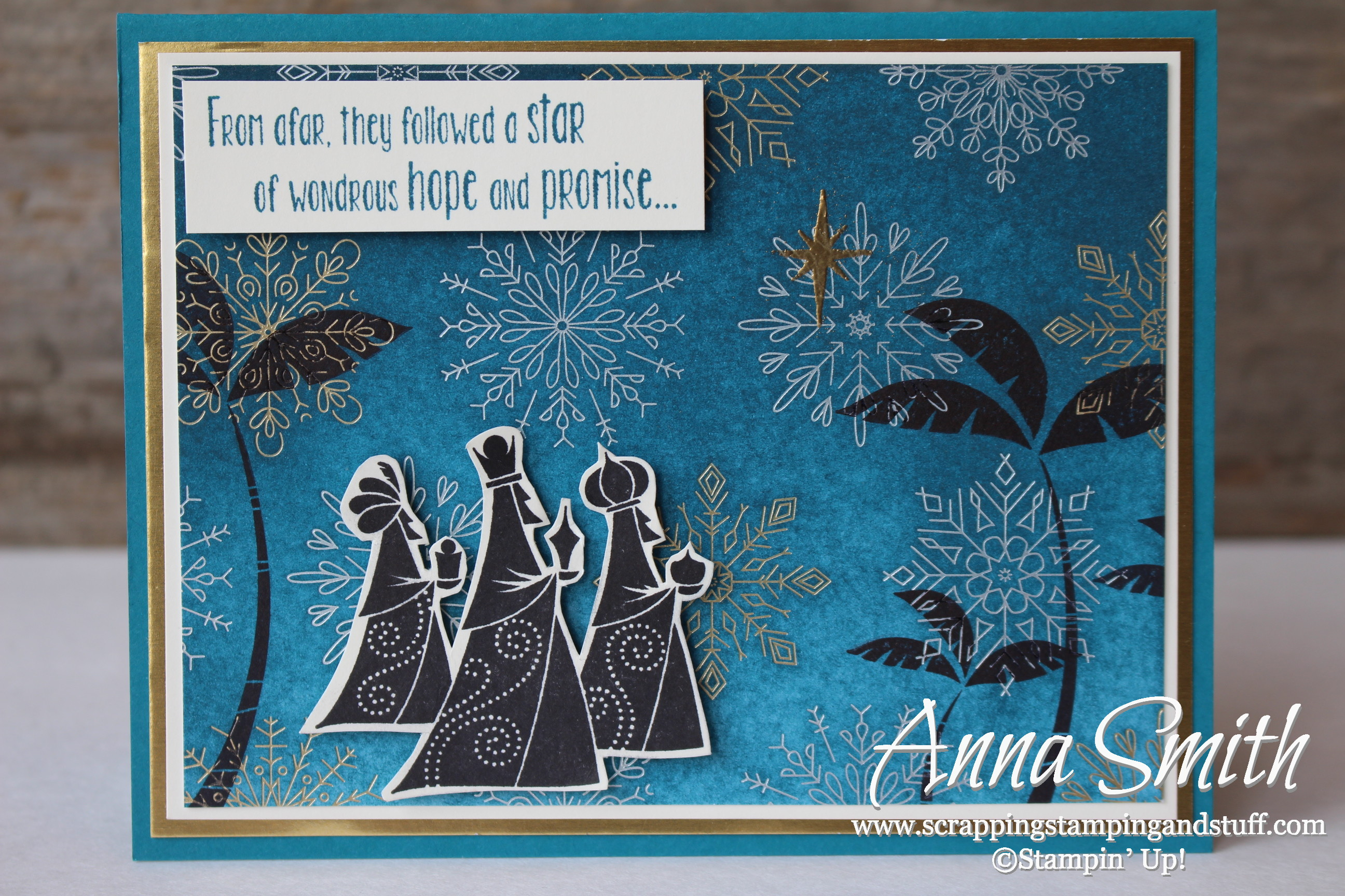 Wise Men From Afar Christmas Card Scrapping Stamping And