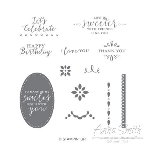 Stampin' Up! Detailed With Love Stamp Set