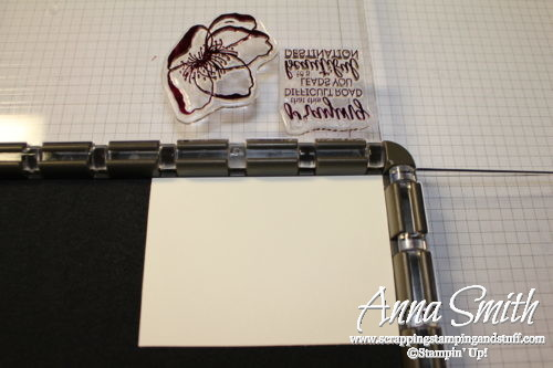 Using the Stamparatus stamping platform to make thinking of you cards featuring the Stampin' Up! Beautiful Promenade stamp set - a fantastic set for life's difficult situations.