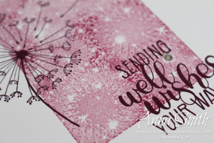 Pretty get well card made with the Stampin' Up! Dandelion Wishes stamp set